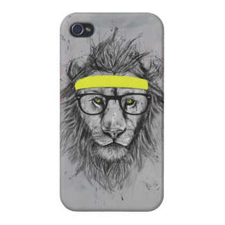 hipster lion iPhone 4 covers