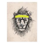 hipster lion (light background)