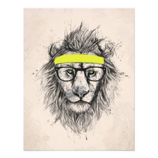 Hipster lion light background custom invites