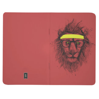 Hipster lion (red) journal