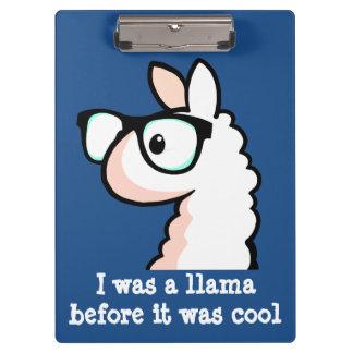 Hipster Llama Clipboard