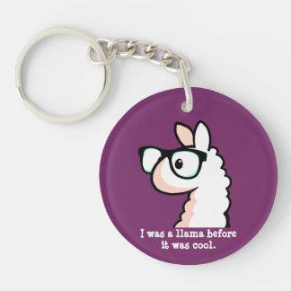 Hipster Llama Key Ring