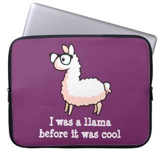 Hipster Llama Laptop Sleeve