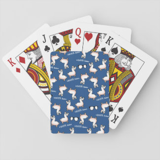 Hipster Llama Madness Playing Cards