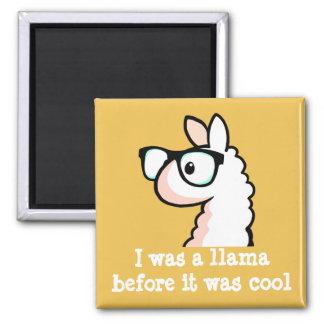 Hipster Llama Magnet