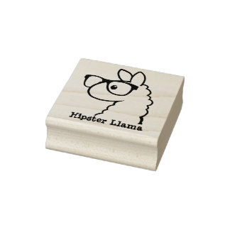 Hipster Llama Stamp
