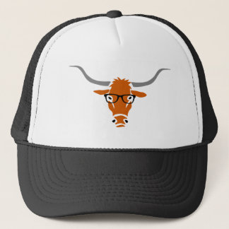 Hipster Longhorn Trucker Hat