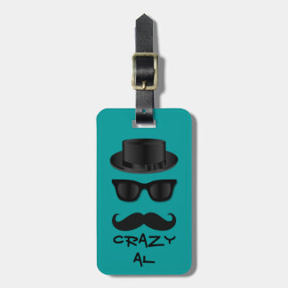 Hipster Luggage Tag