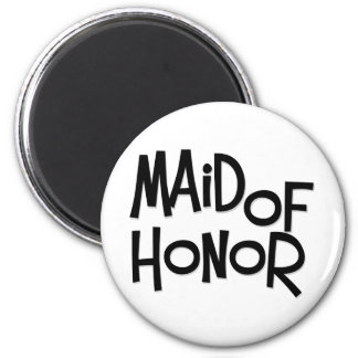 Hipster Maid of Honor Refrigerator Magnets