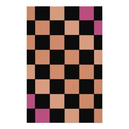Hipster Modern Checkerboard CricketDiane Flyer