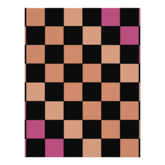 Hipster Modern Checkerboard CricketDiane Full Color Flyer