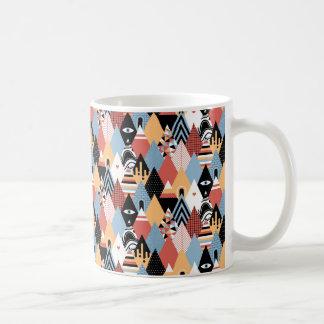 Hipster modern mystic triangle geometric pattern coffee mug