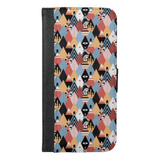 Hipster modern mystic triangle geometric pattern iPhone 6/6s plus wallet case