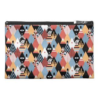 Hipster modern mystic triangle geometric pattern travel accessory bag