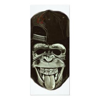 Hipster Monkey 10 Cm X 24 Cm Invitation Card
