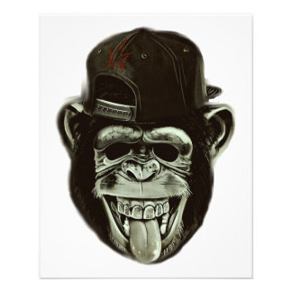 Hipster Monkey 11.5 Cm X 14 Cm Flyer