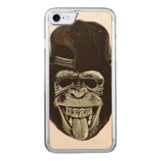Hipster Monkey Carved iPhone 8/7 Case