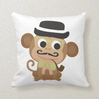 Hipster Monkey Cushion