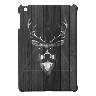 Hipster Moustache Deer - Black and White iPad Mini Case