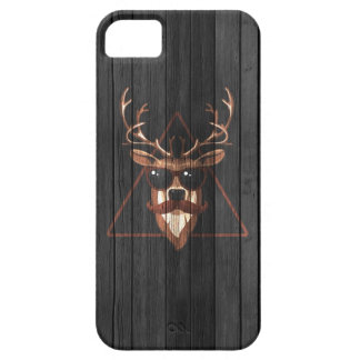 Hipster Moustache Deer - Dark Edition iPhone 5 Cover