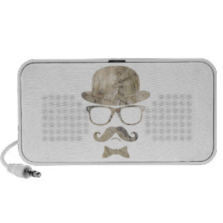 hipster moustache derby glasses 3 iPhone speaker