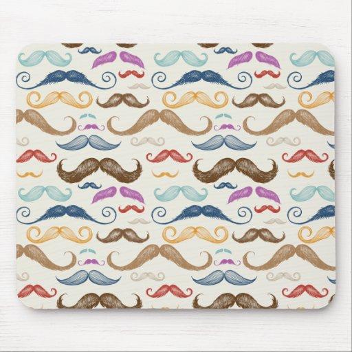 Hipster Moustache Pattern Mousepad