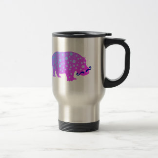 Hipster Moustaches Stainless Steel Travel Mug