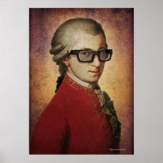 Hipster Mozart Print