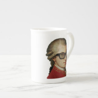 Hipster Mozart Bone China Mugs
