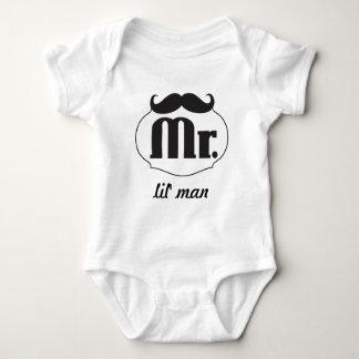 Hipster Mr Lil' Man Baby Baby Bodysuit