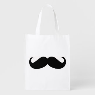 Hipster Mustache Reusable Bag