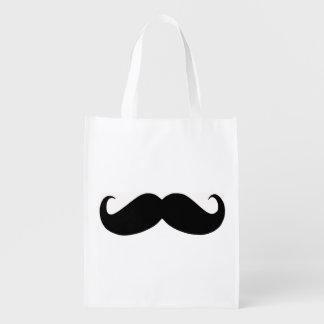 Hipster Mustache Reusable Bag