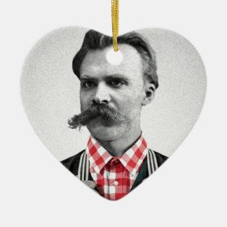 Hipster Nietzsche Ceramic Heart Decoration