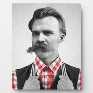 Hipster Nietzsche Display Plaque