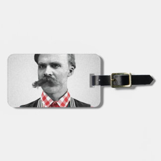 Hipster Nietzsche Luggage Tag