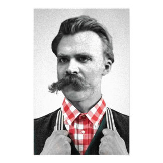Hipster Nietzsche Stationery