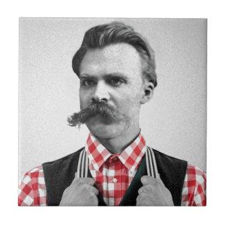 Hipster Nietzsche Tile