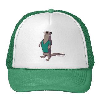 Hipster Otter Hat without text