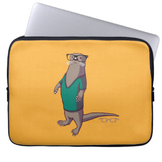 Hipster Otter Laptop Sleeve (without text)