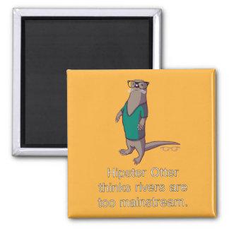 Hipster Otter Magnet