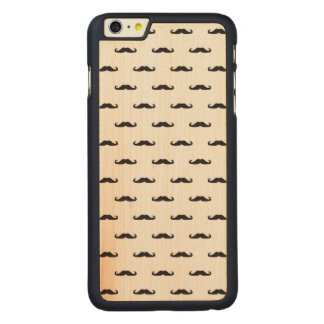 Hipster pattern carved maple iPhone 6 plus case