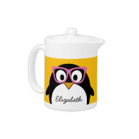 Hipster Penguin Tea Pot