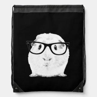 Hipster Pigster Drawstring Bag