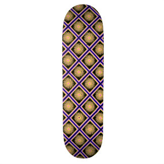 Hipster Plaid,  Boxes with Fireworks Custom Skate Board
