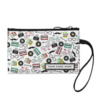 Hipster Print Personalized Coin Purse