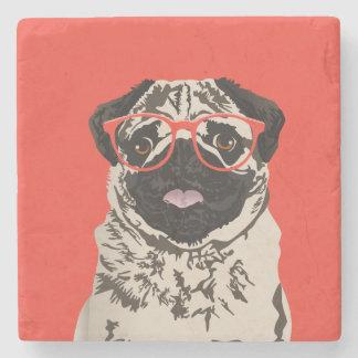 Hipster Pug Coaster