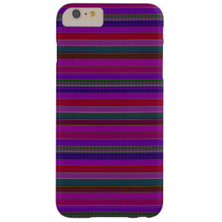 Hipster Purple Multi Stripes Barely There iPhone 6 Plus Case