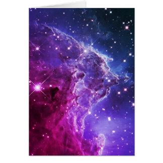 Hipster Purple Ombre Monkey Head Nebula Card