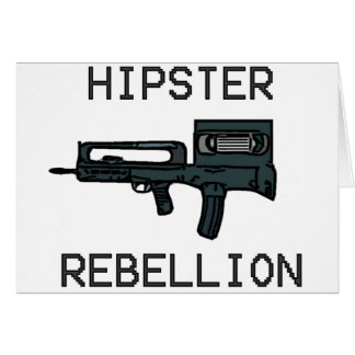 Hipster Rebellion Greeting Cards