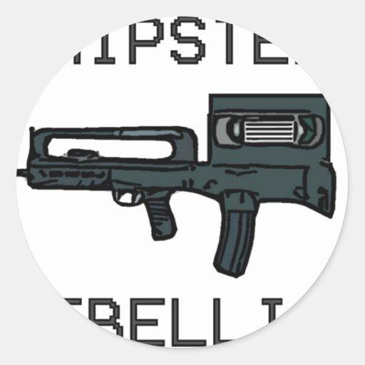 Hipster Rebellion Round Sticker